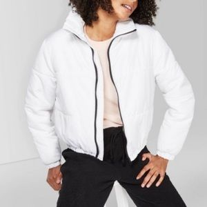 Wild Fable White Puffer Jacket